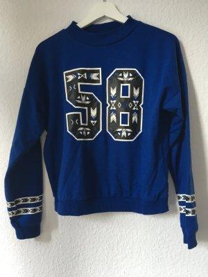 Pulli blau Trend crop sweater M