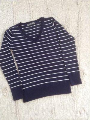 Pulli / dunkelblau-weiß gestreift / Gr. 36 S