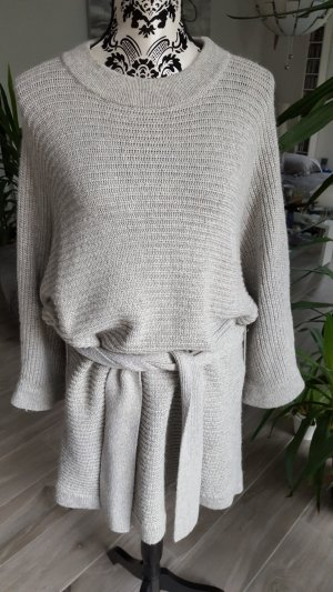 Edited Sweater Dress silver-colored-light grey