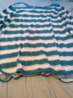 Pulli Farbe blau weiß Größe xl