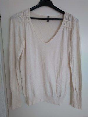 Naf naf V-Neck Sweater natural white viscose
