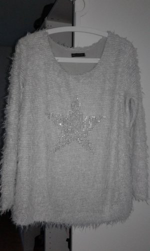 Oversized Sweater light grey-silver-colored