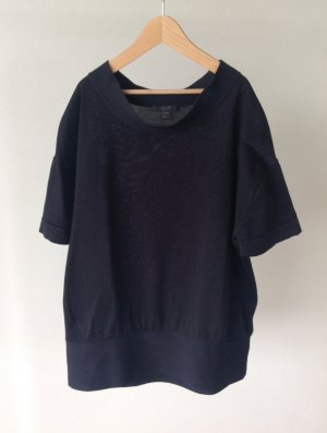COS Short Sleeve Sweater dark blue