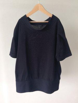 COS Short Sleeve Sweater dark blue