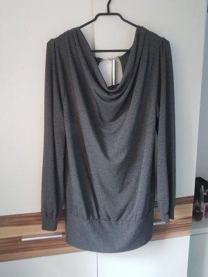 Amisu Maglione oversize grigio scuro