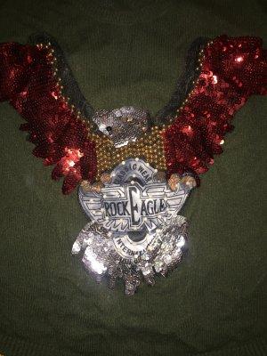 Jersey de cuello redondo multicolor