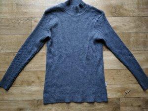 Knitted Sweater dark grey merino wool