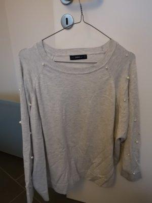 Zara Pull gris clair