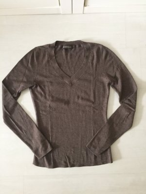Repeat V-Neck Sweater grey brown