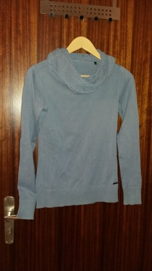 Wool Sweater azure cotton
