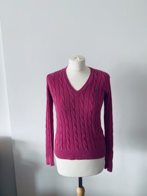 Ralph Lauren Cable Sweater violet wool