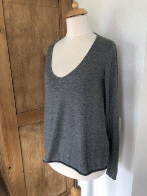 American Vintage V-Neck Sweater dark grey