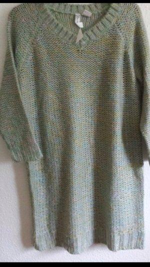 Pulli Pullover Longpulli grün warm