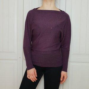 Pulli Pullover Mötivi S Lila Strasssteine Violett Hoodie Sweater Top T-Shirt Shirt Tshirt bluse hemd