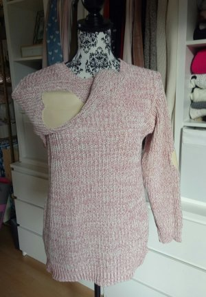 Pulli Pullover Strick Patches Herz Beige Rosa Pink Asos