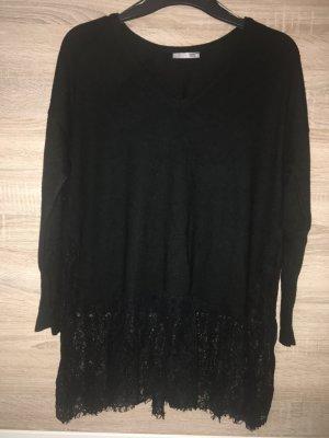 Pulli Pullover Tunika Strick spitze Gr M Zara