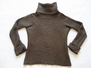 Mango Turtleneck Sweater brown