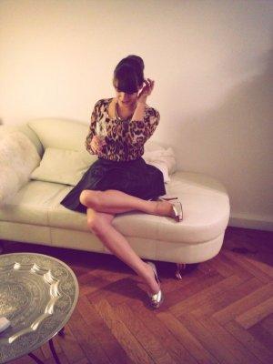 Pulli Shirt Zara Gr. S 36 Leinen Leo Leopard Longsleeve blogger oberteil