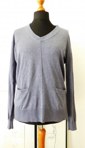 Repeat Cashmere Fine Knitted Cardigan slate-gray-blue