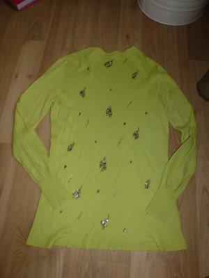 Pulli Strickpulli von Elegance Gr. 38 Wolle und Kaschmir hellgrün grün