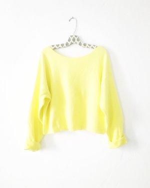 pulli • sweater • zara • vintage style • hellgelb • rückenfrei • schleifen • boho • oversized