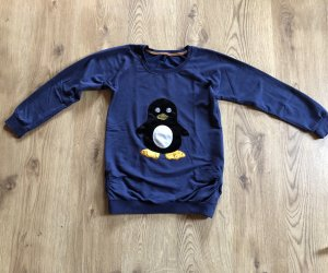 Pulli,Sweatshirt Pullover mit Pinguin