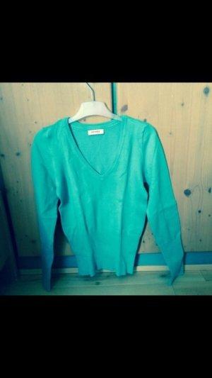 Pulli v-Ausschnitt mint grün Herbst Frühling Winter Orsay Pullover