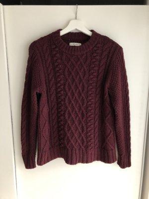 Abercrombie & Fitch Norwegian Sweater bordeaux