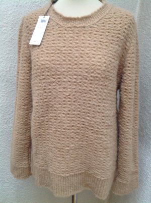 Marc Cain Knitted Sweater camel mixture fibre