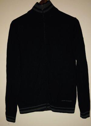 Tom Tailor Wollen Jack zwart-donkergroen Katoen