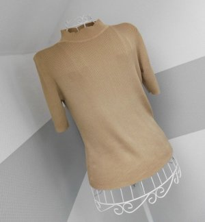 Toni Dress Short Sleeve Sweater sand brown-gold-colored