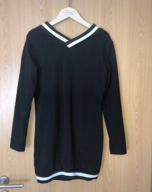 SheIn Robe pull noir-blanc