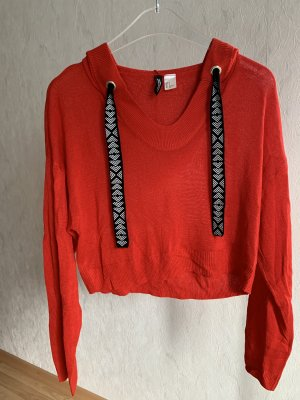 H&M Hooded Sweater red