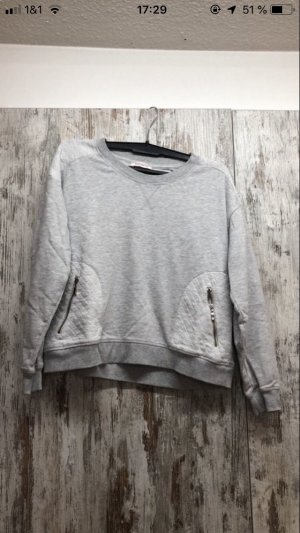 Pull oversize gris clair