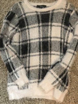 Forever 21 Kraagloze sweater zwart-wit