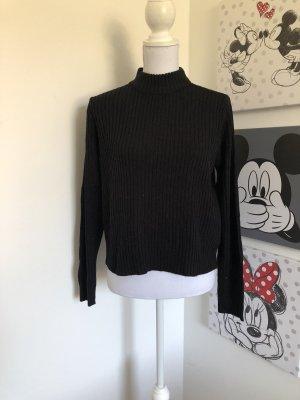 H&M Jersey de cuello alto negro