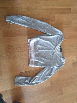 Tally Weijl V-Neck Sweater light grey-light pink