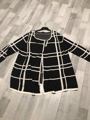 Samoon Jersey largo blanco-negro