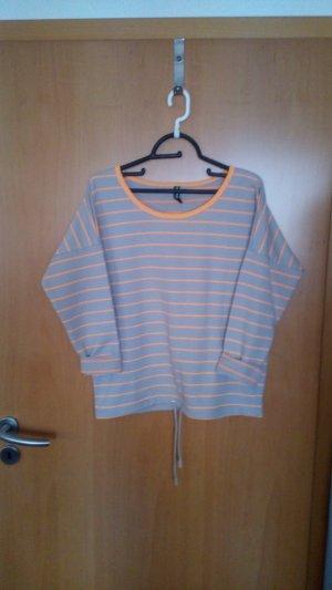 Maglione twin set grigio-arancione