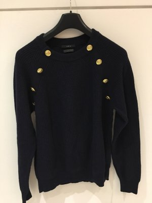 OuiSet Sweater dark blue-gold-colored