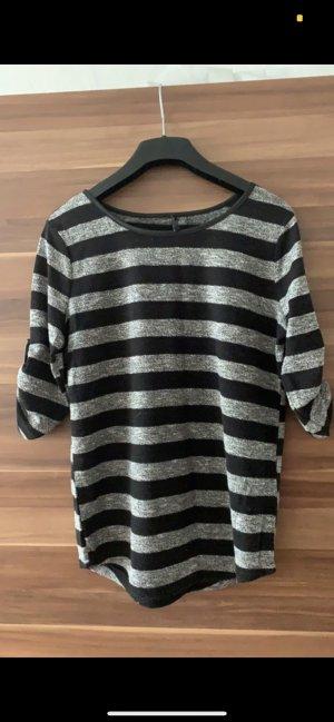 Hailys Jersey de manga corta negro-gris