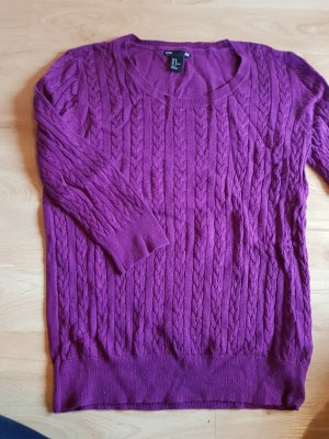 H&M Cable Sweater lilac-blue violet