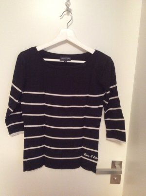 Marc O'Polo Crewneck Sweater dark blue-natural white cotton