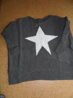 Jersey de lana marrón claro-blanco puro tejido mezclado