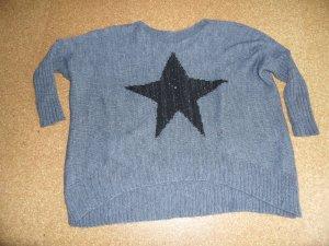 Jersey de lana gris-negro tejido mezclado