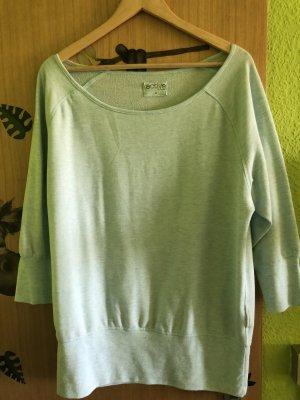 Sweater met korte mouwen babyblauw-azuur