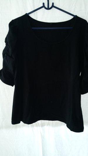 Sweater met korte mouwen zwart