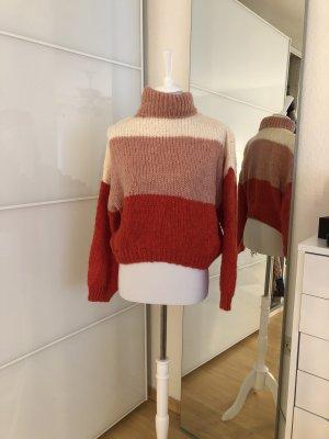 Pullover 3 Farben Oversized Look mit Kragen