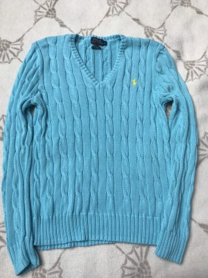 Ralph Lauren V-Neck Sweater light blue