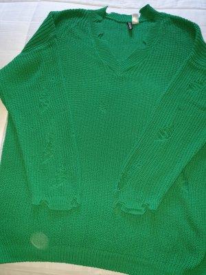H&M Oversized trui groen Katoen